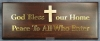 Productafbeelding Wandbord 28x11cm God bless our home peac
