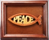 Productafbeelding Lyst vis peace hout 18x22cm