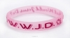 Productafbeelding Armband roze WWJD duif Silicone