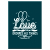 Productafbeelding Kadobord love endures all things