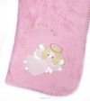 Productafbeelding Babydeken fleece rose 75x100cm